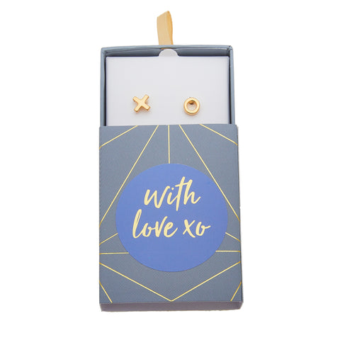 With Love XO Earrings in Gold