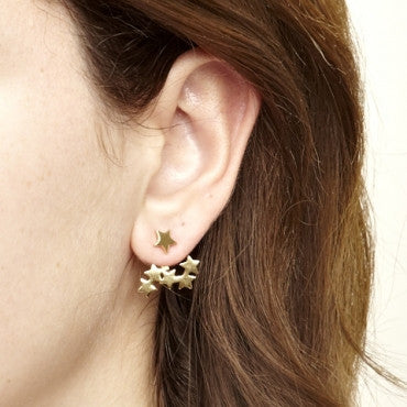 Cosmic Earrings in Gold