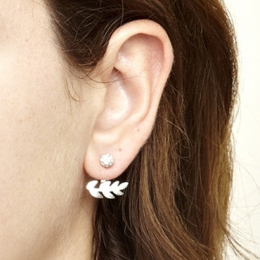 Gardenia Earrings in Silver
