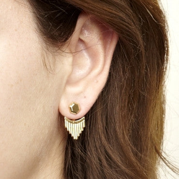 Lux Earrings in Gold