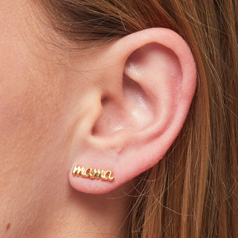 Mama Earrings in Gold