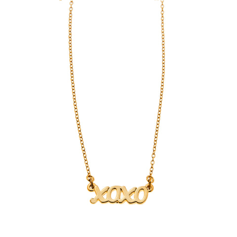 Xoxo Necklace in Gold