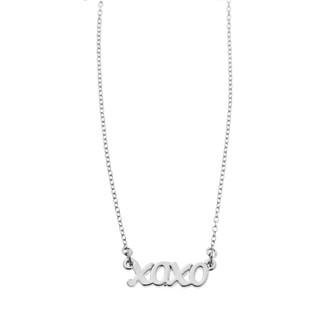 Xoxo Necklace in Silver