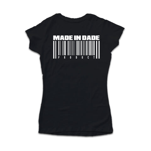 the 3o5 : MADE IN DADE [womens tee] in BLACK
