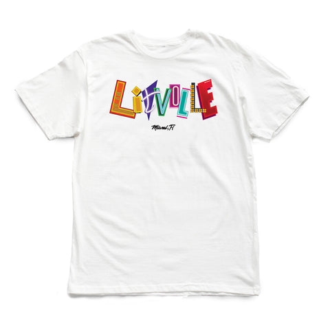 305 - LITVILLE: Neon Lights [tee] in WHITE