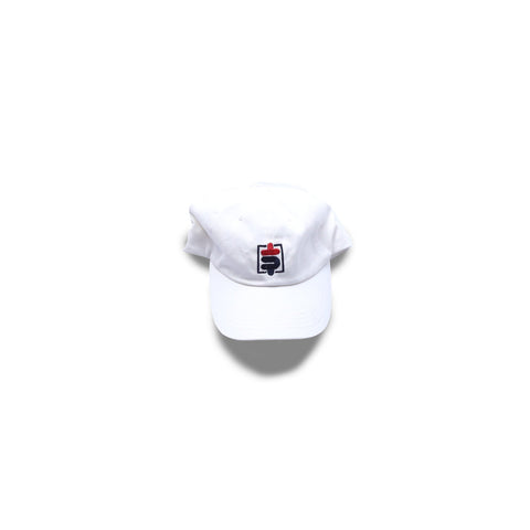Skrilla [$] Dad Hat in WHITE