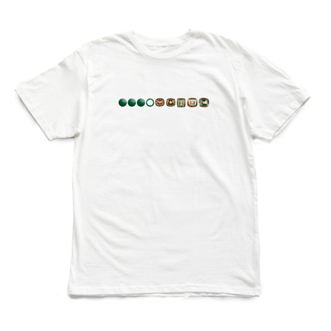 305 - 3 OH FIVE Rings [tee] in WHITE