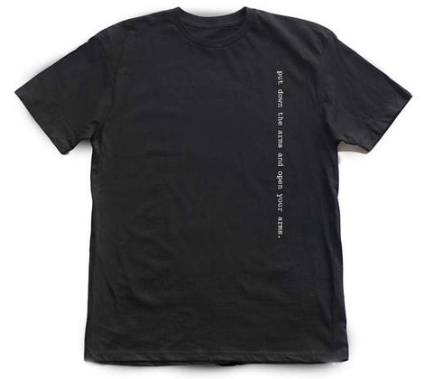 Put Down Arms 2 [tee] in BLACK
