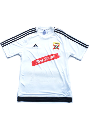 soccer Dade County red stripe [jersey] in WHITE
