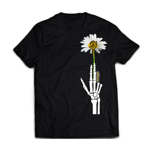 trill hippie : x milo - peace gun [tee] in BLACK