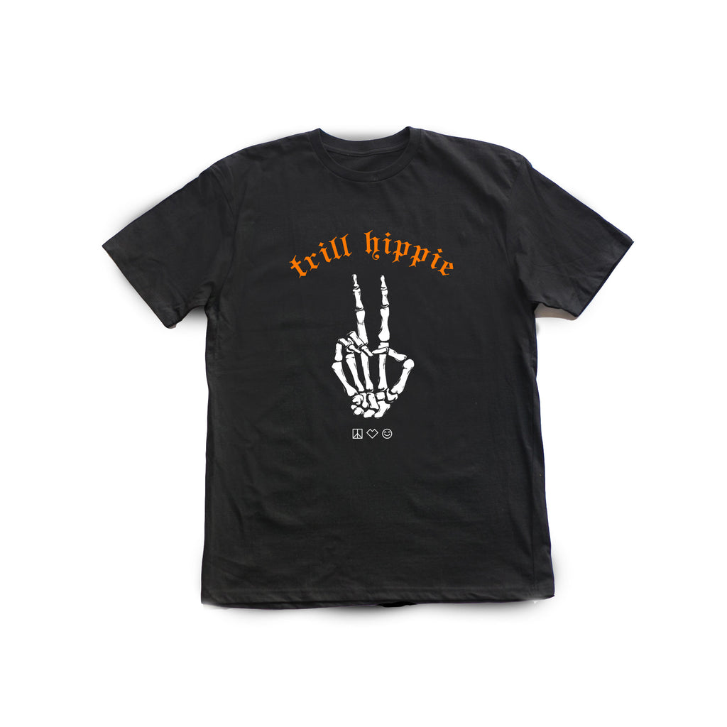 trill hippie : the trill peace [tee] in BLACK