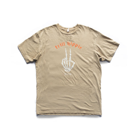 the trill peace [tee] in TAN