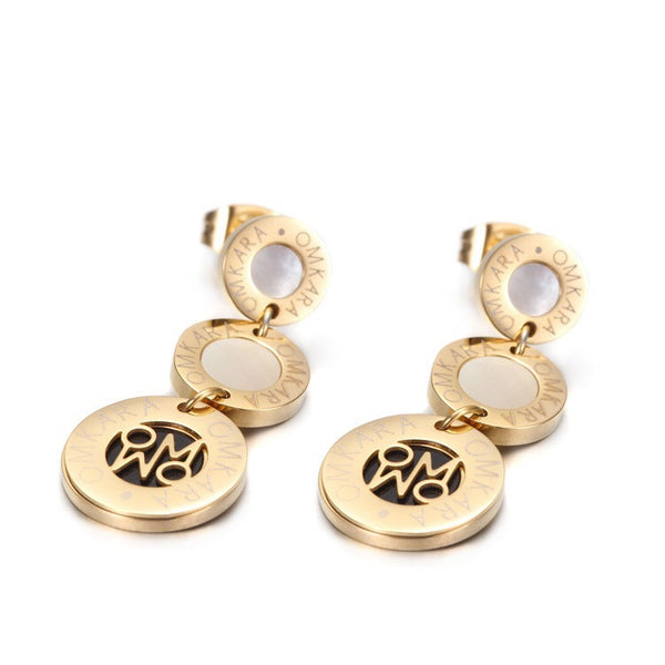 Omkara Signature Double Earrings