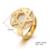 Star of David Omkara Ring