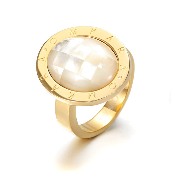 Omkara Shell Pearl Ring