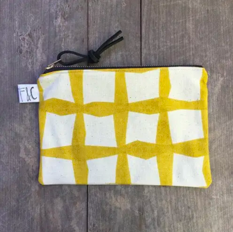 Pacific Zipper Pouch In Golden Lattice