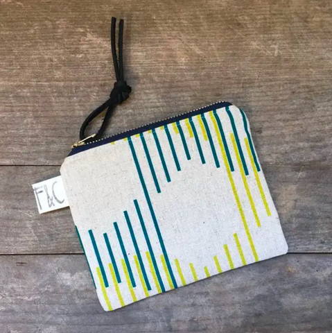 Pacific Zipper Pouch In Modern Lines Linen Canva