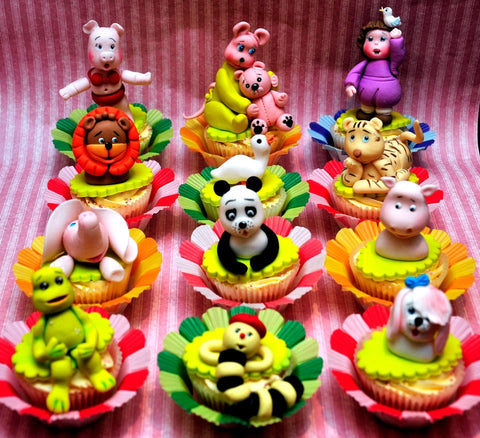 Cupcake animals topper - I Love Cake Decorating