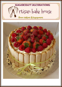 ARTISAN STRAWBERRIES& CREAM CAKE