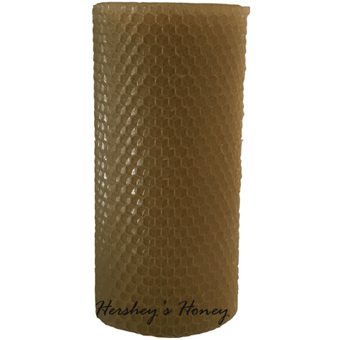 Beeswax Candle 3 x 6 Honeycomb Pillar Natural, Candle - Hershey's Honey