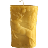 Beeswax Candles Wilderness (Bear & Deer) Pillar