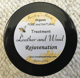 Leather and Wood Rejuvenation Natural Treatment, Natural Leather and Wood Care - Hershey's Honey