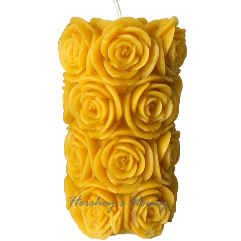 Beeswax Candles Large Rose 5 1/4