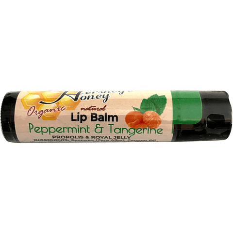 LIP BALM Peppermint and Tangerine Beeswax NATURAL Organic, Skin Care - Hershey's Honey
