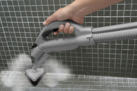 steam cleaning bathroom shower