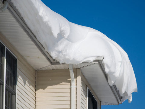 snow on house roof