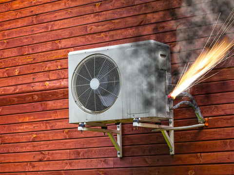 air conditioner smoke fire sparks