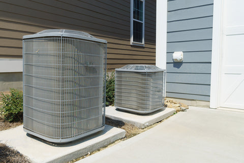 air conditioning unit outside home