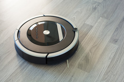 robotic vacuum on hardwood floors