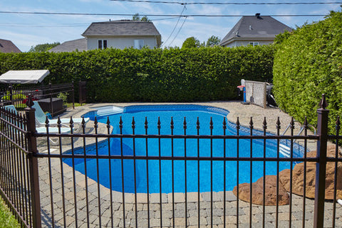 backyard pool fenced in