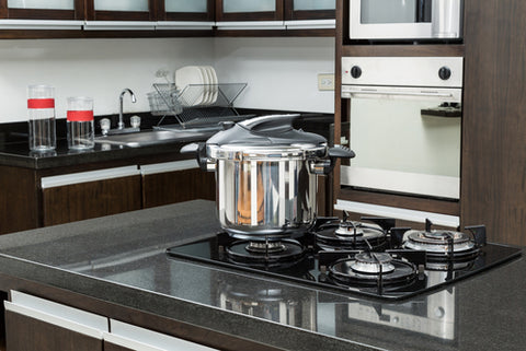 pressure cooker in modern kitchen