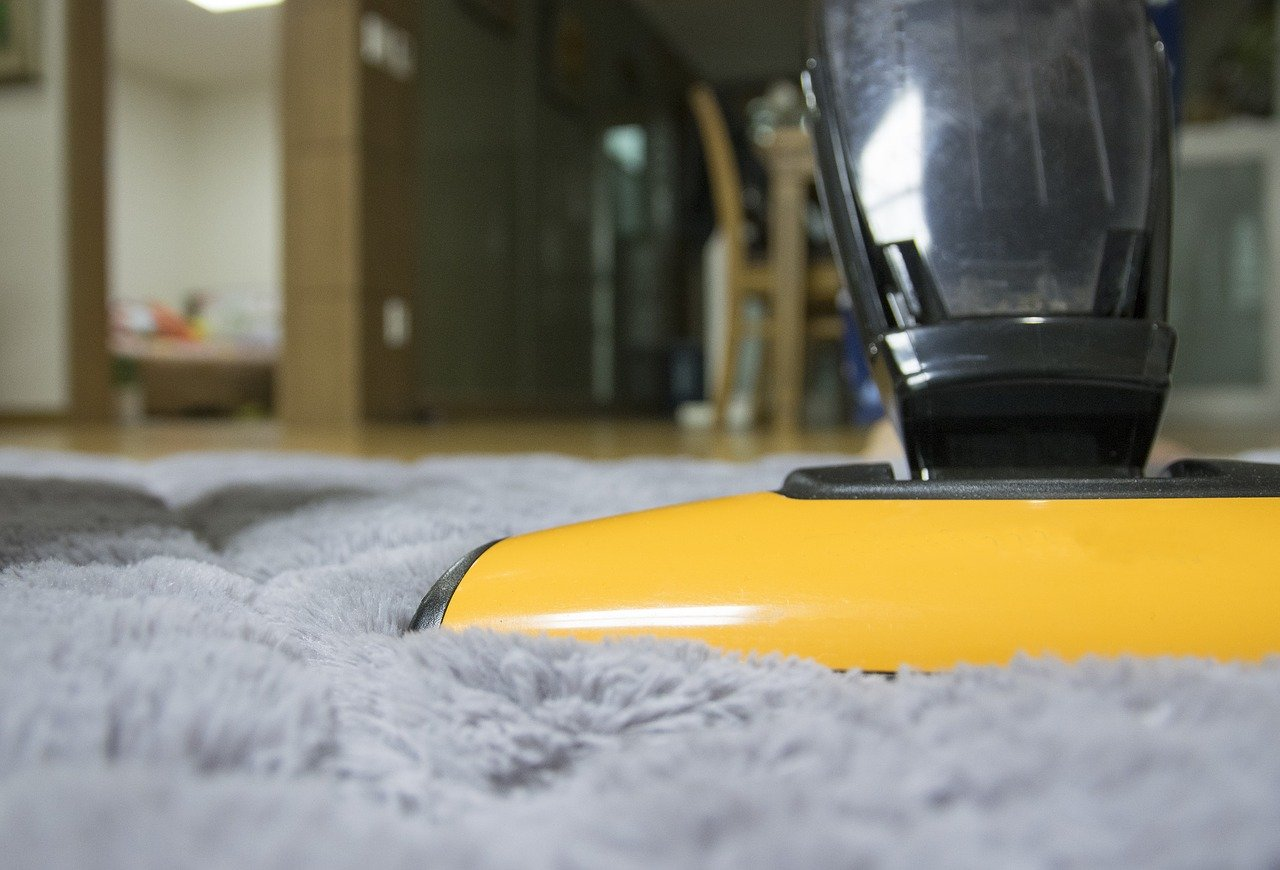 Vacuum cleaner vacuums carpet