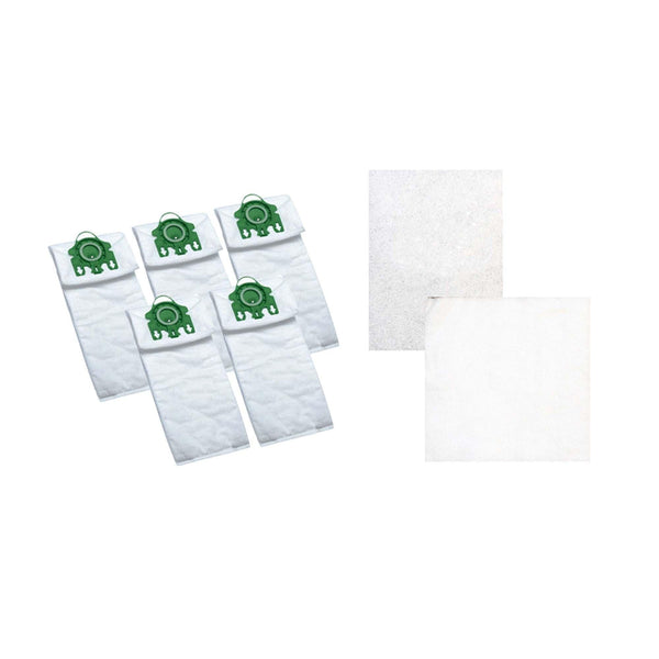 5pk Replacement U Cloth Bags & 2 Filters, Fits Miele, Compatible with Part 07282050 & SAC-30