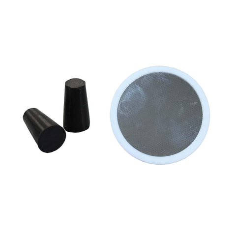 Replacement Deluxe Stainless Steel & Rubber Disk Filter & 2 Rubber Stoppers, Fits All Toddy(R) Cold Brew Coffee Systems, Including T2N Model, Washable & Reusable