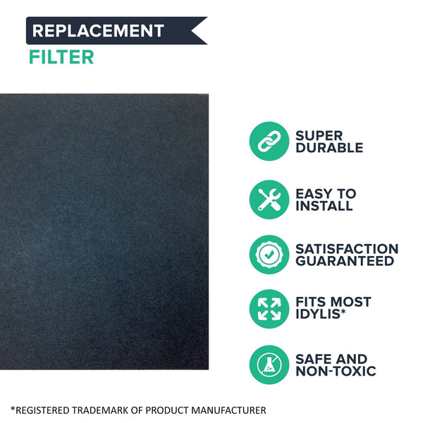Replacement D Air Purifier Carbon Filter, Fits Idylis, Compatible with Part 302656