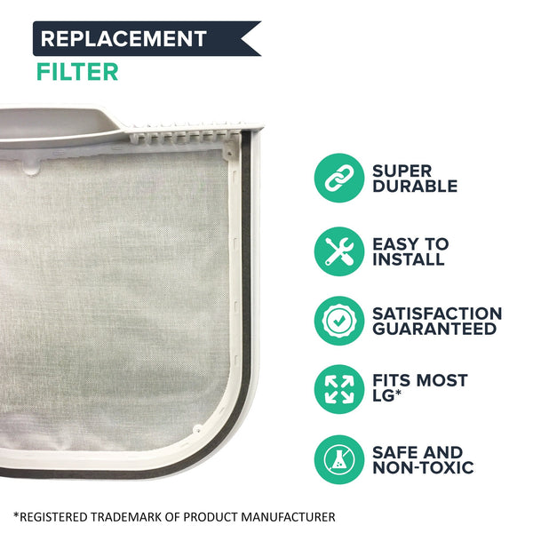 Replacement Dryer Lint Filter, Fits LG, Compatible with Part 5231EL1001C