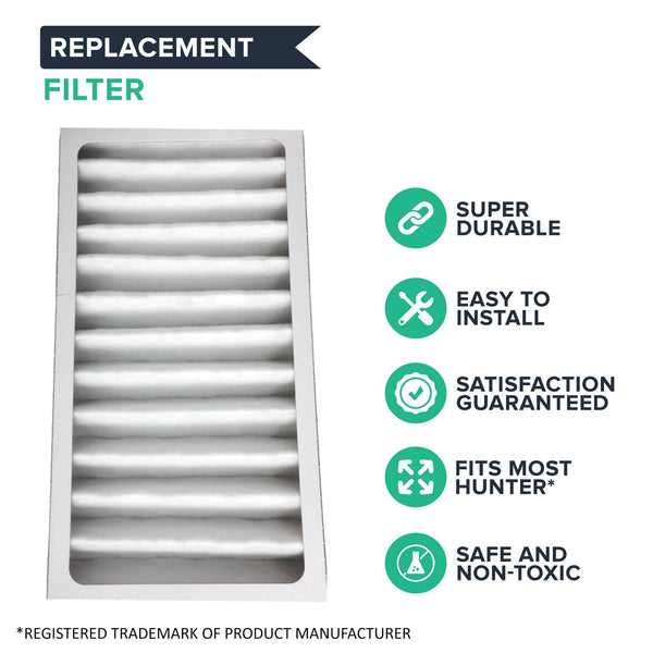 Replacement Air Purifier Filter Compatible with Hunter® Brand Filter Part # 30963, Models 30709, 30710, 30711, 30714, 30721, 30752, 30760
