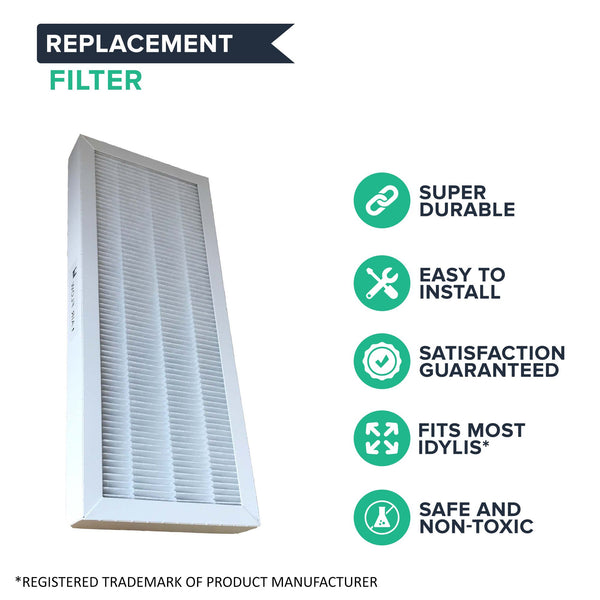 2pk Replacement F HEPA Style Air Purifier Filter, Fits Idylis, Compatible with Part 560885