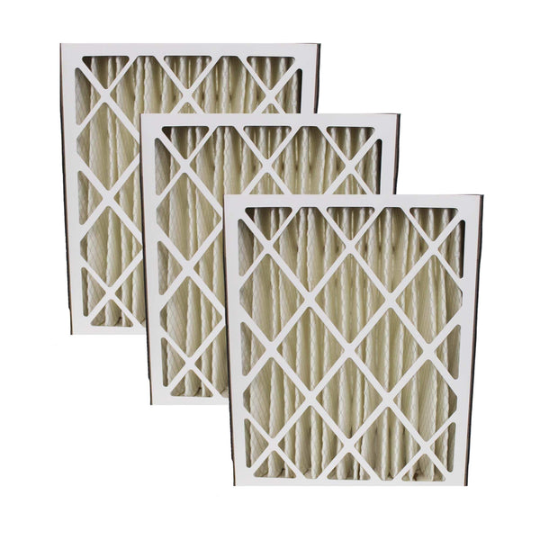 3pk Replacement 20x25x5 MERV-8 HVAC Furnace Filters, Fits Honeywell F100, F200 & SpaceGard, Compatible with Part FC100A1037