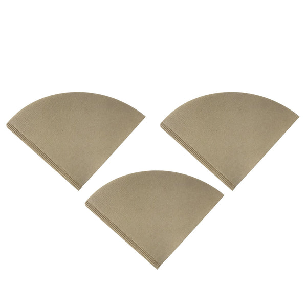 300pk Replacement Unbleached Natural Brown Paper Coffee Filters, Fits Hario V60 Coffee Makers, Compatible with VCF-02100M