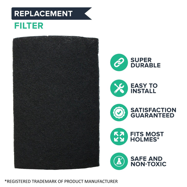 Crucial Air Replacement Air Filter - Compatible With Part # HAPF60, HAPF60-U3 & HAPF60PDQ-U Air Purifier Carbon Filters, Fit Harmony, Bionaire & GE Air Purifiers