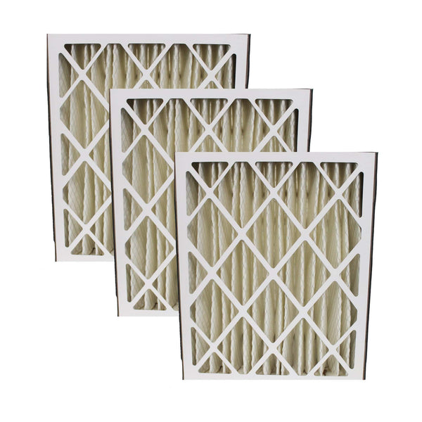 3pk Replacement 20x25x5 MERV-8 HVAC Furnace Filters, Fits Trion Air Bear, Compatible with Part 255649-102