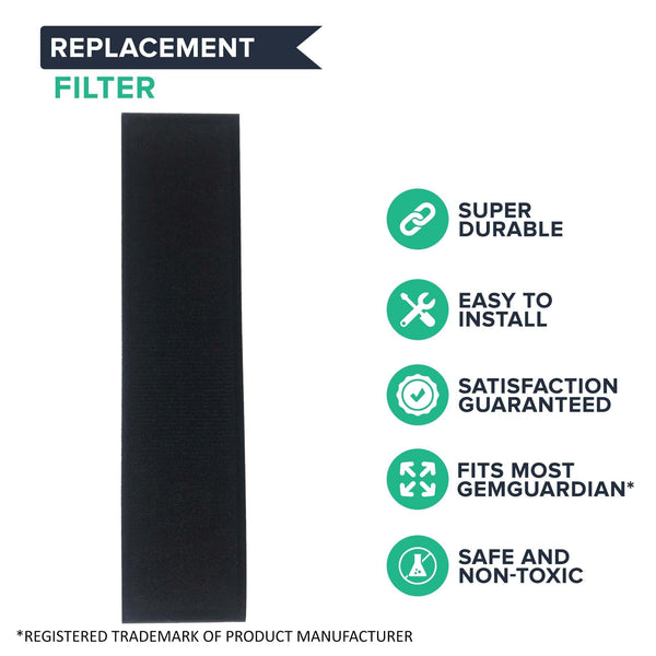 Replacement HEPA Style C Air Purifier Filter, Fits GermGuardian, Compatible with Part FLT5000 & FLT5111