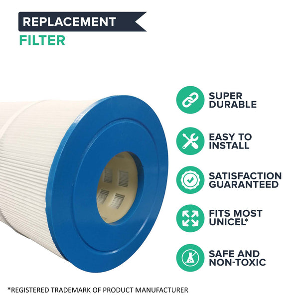 4pk Replacement Pool Filters, Fits Pleatco PCC80 & Unicel C-7470