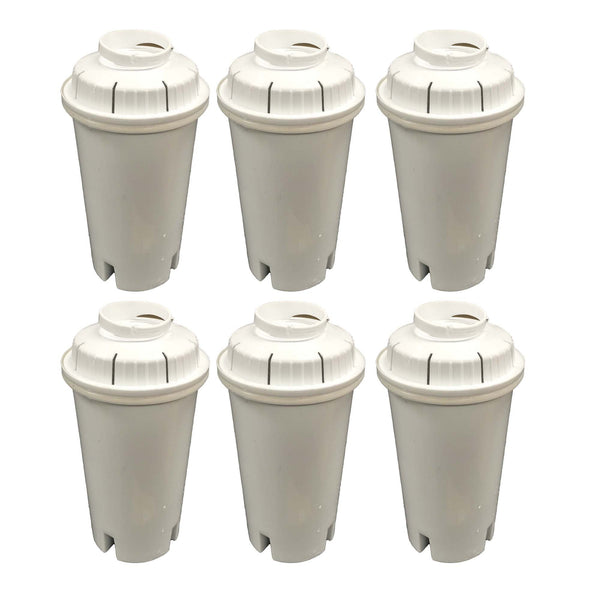 6pk Replacement Water Filters, Fits Brita Pitchers & Dispensers