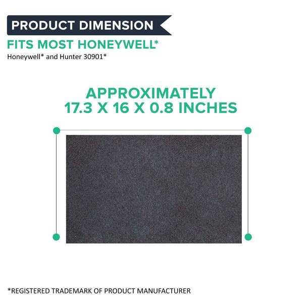 2pk Replacement Carbon Filters, Fits Honeywell, Compatible with Part 30901, 30903, 30907, 30958m & 30959